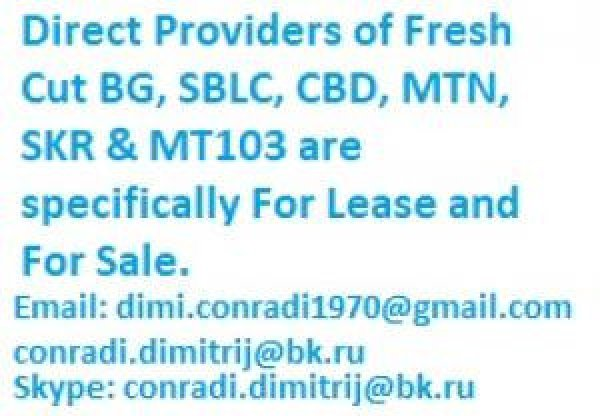 We offer fresh cut bank instruments for lease and sales